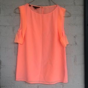 Ted Baker apricot silk blouse